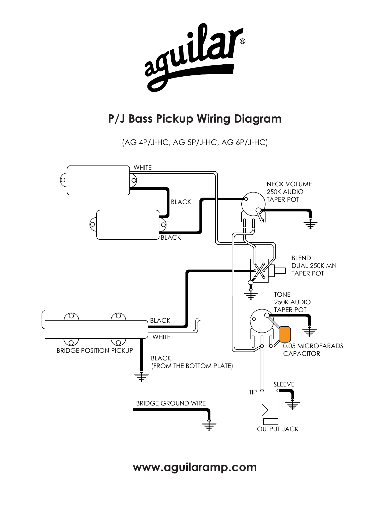 Uilaramp P J Bass Pickup Wiring Diagram