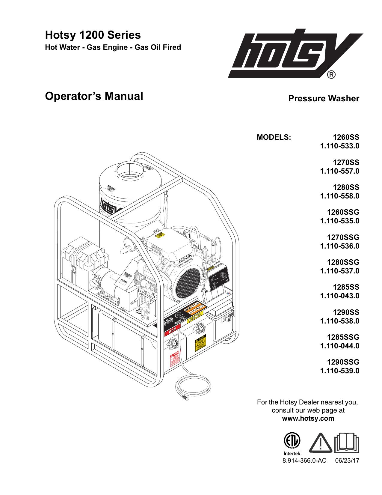 Hotsy Wiring Diagram