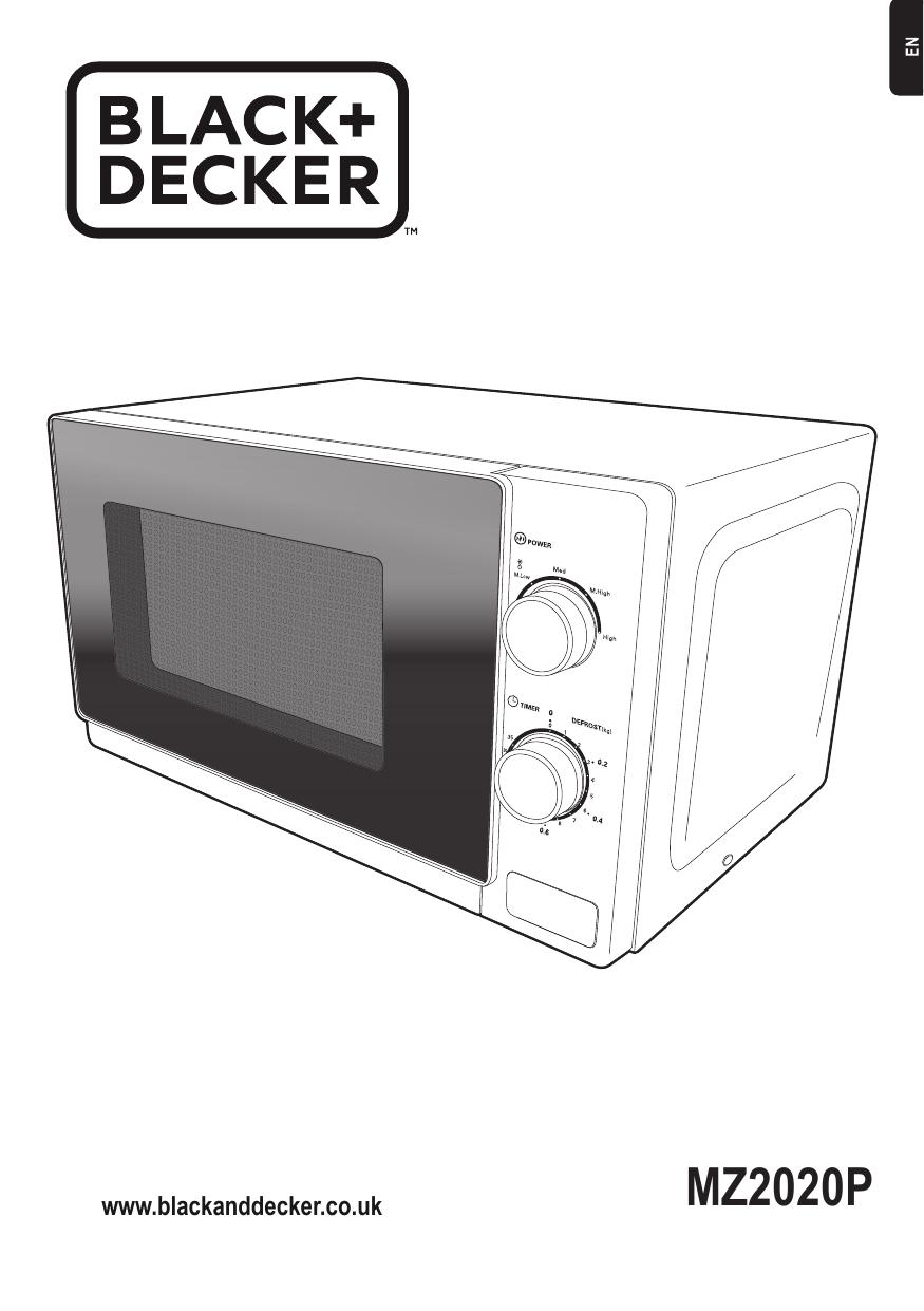 black decker mz2020p microwave