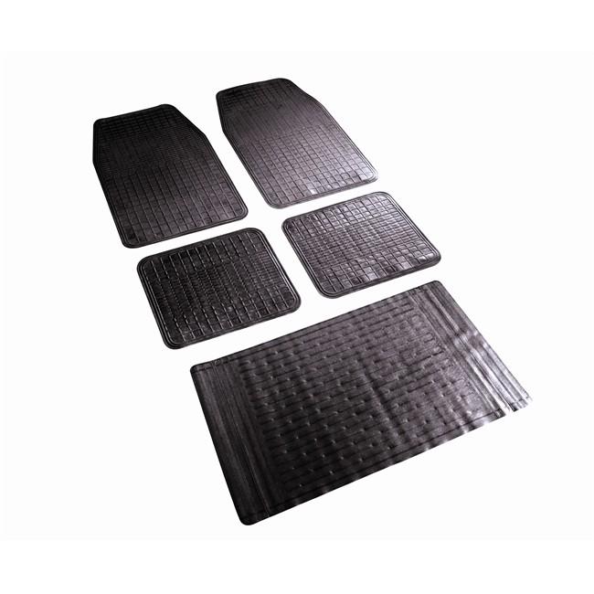 tapis tapis universels jeu complet de tapis universels tapis de coffre decoupable noirs en pvc sodifac elegant