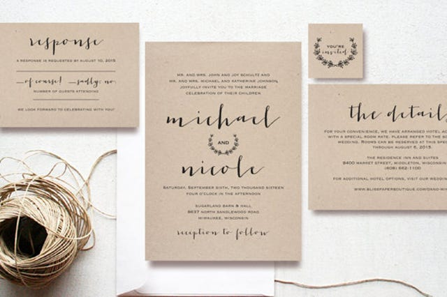 Affordable Wedding Invitations To Bring Your Dream Design Into Invitation 7