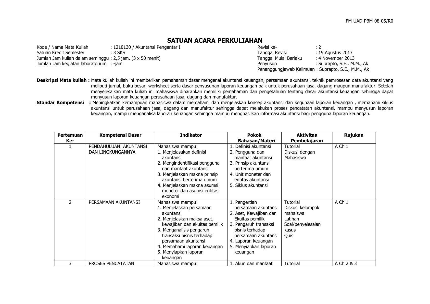 Pengantar Akuntansi 1