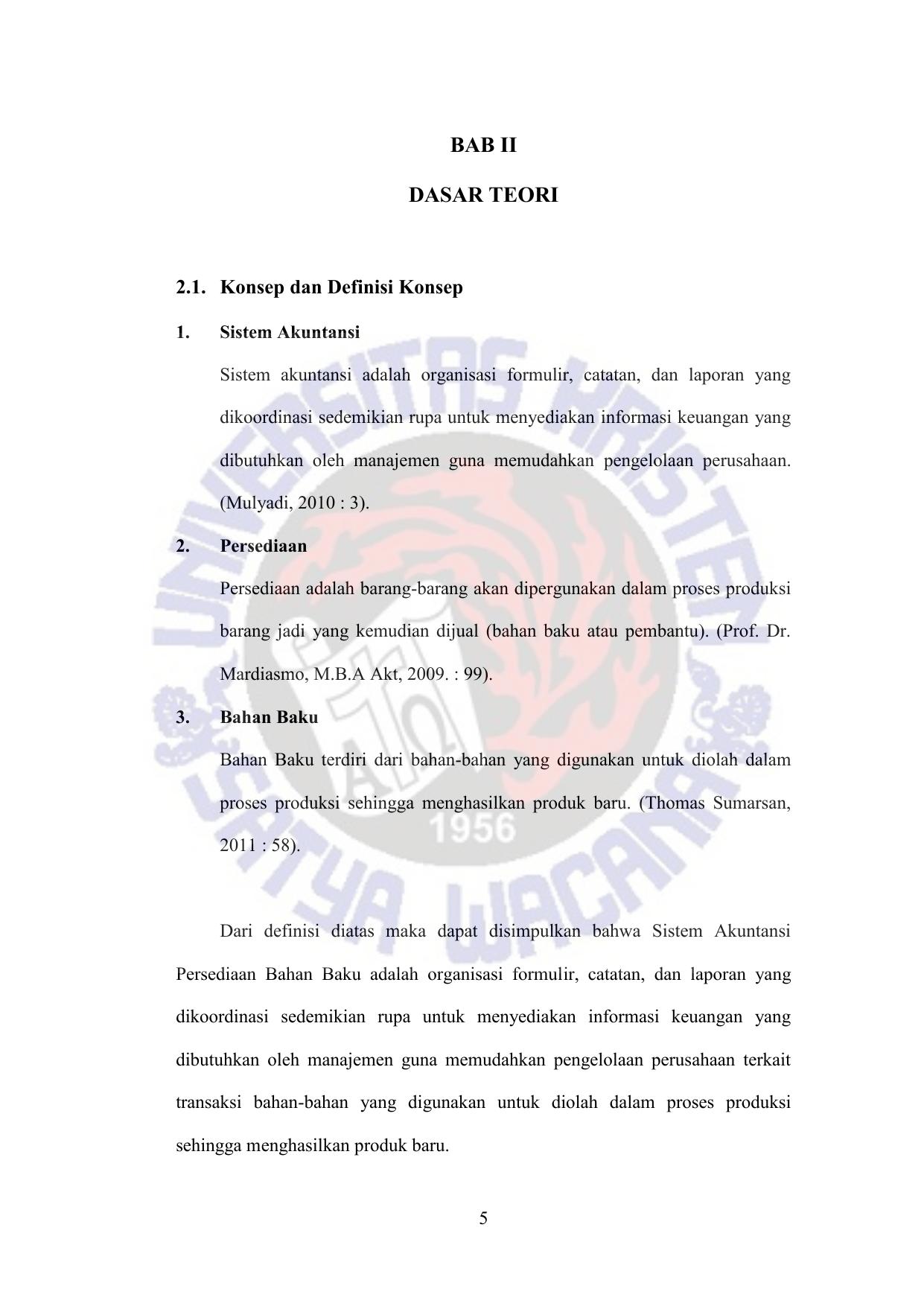 Sistem Akuntansi Persediaan Bahan Baku Pt Albasia Sejahtera