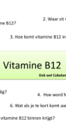 Afbeeldingsresultaat voor vit b12 doodoorzaak nummer 1