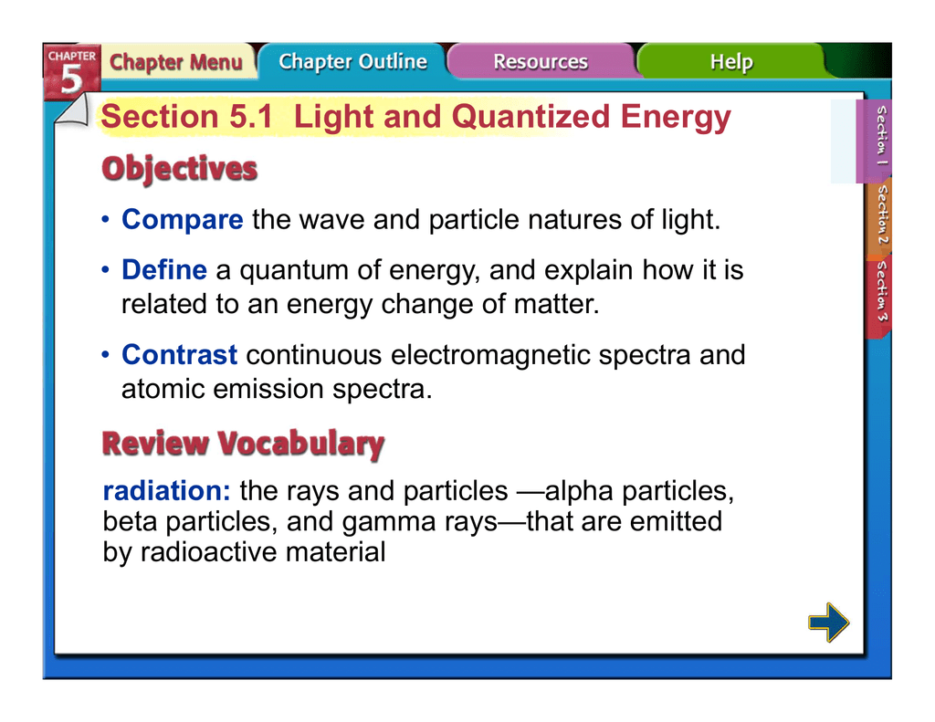 Light And Quantized Energy Worksheet Answers