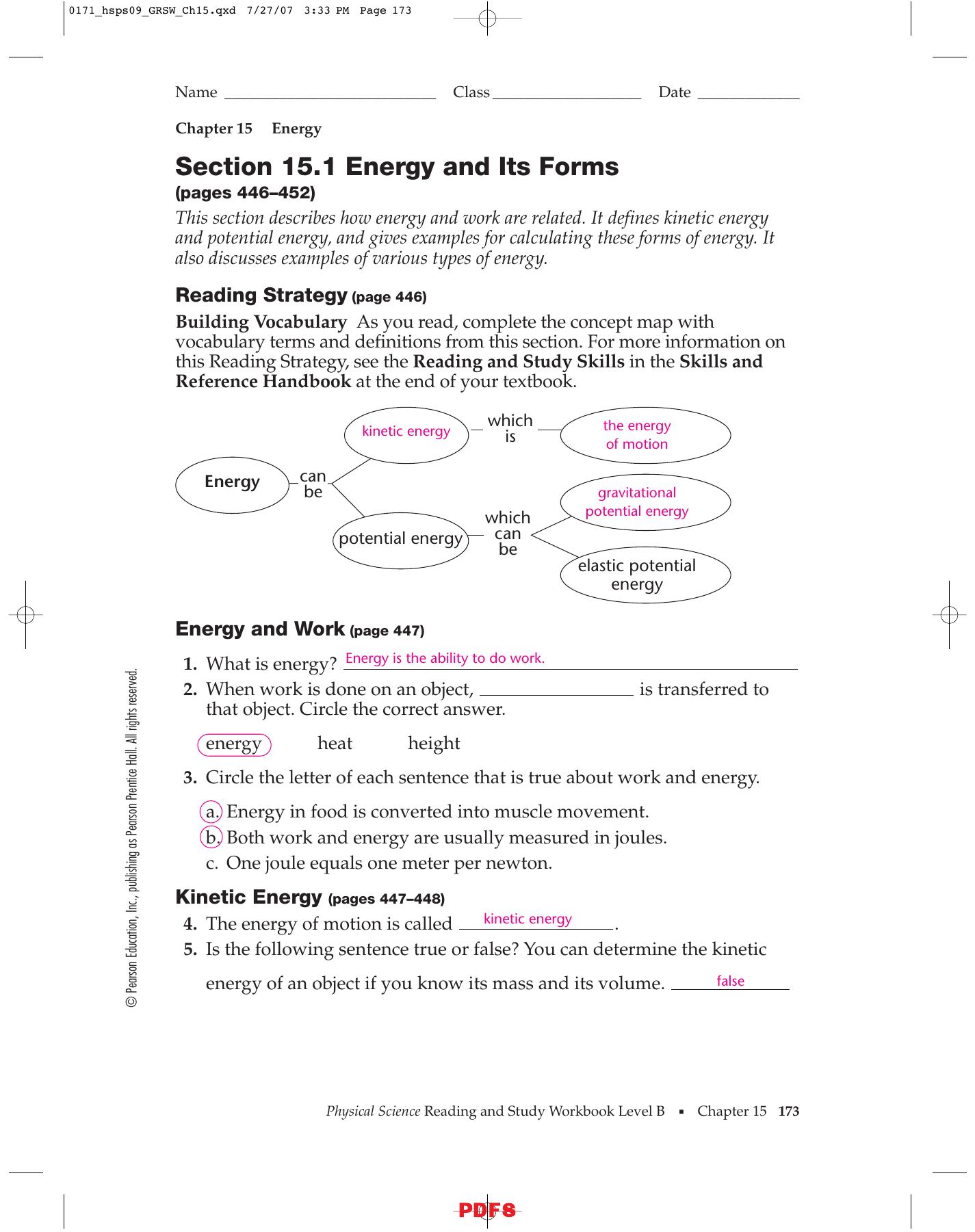 Section 15 1 Energy And Its Forms Answers