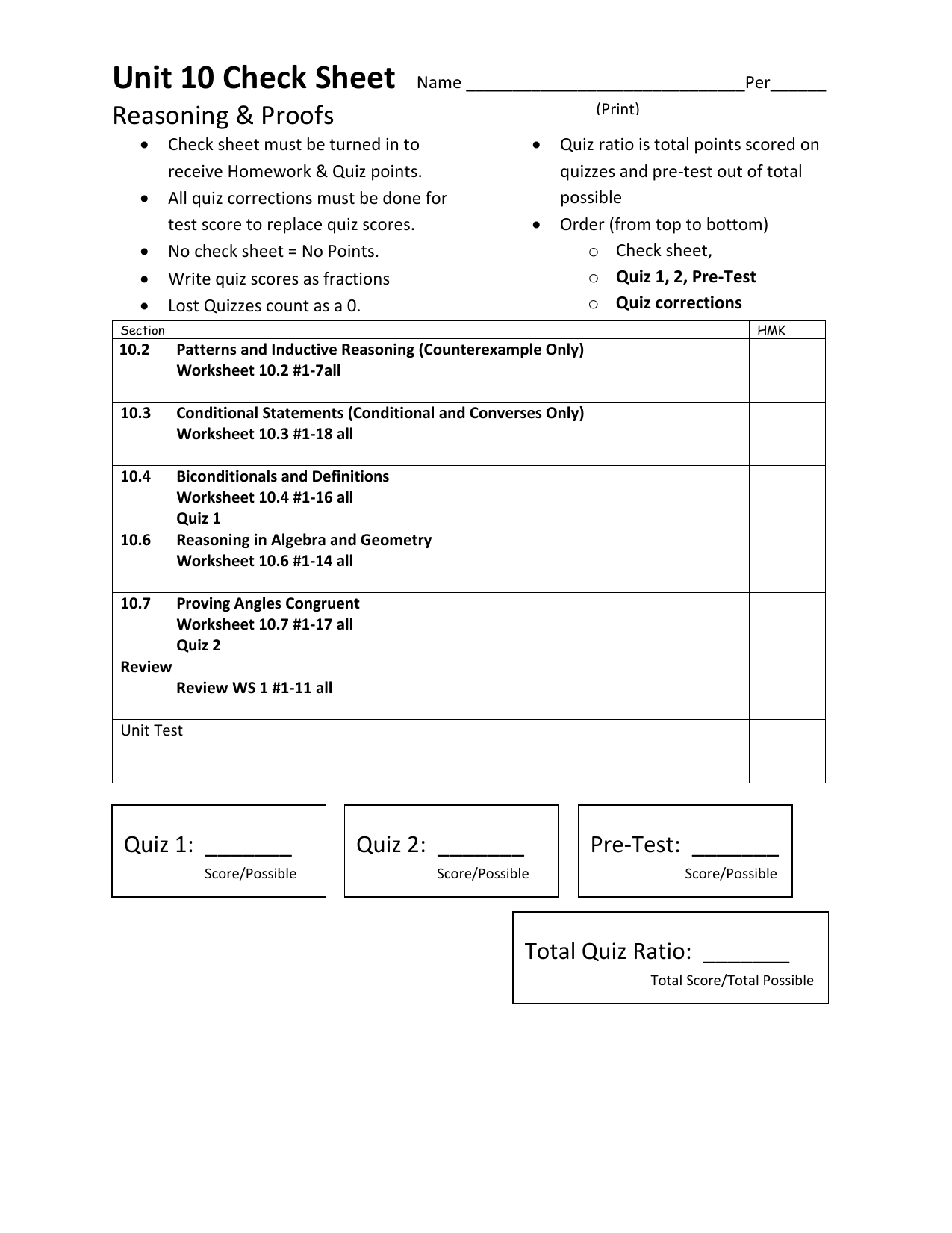 Geometry Conditional Statements Worksheet With Answers