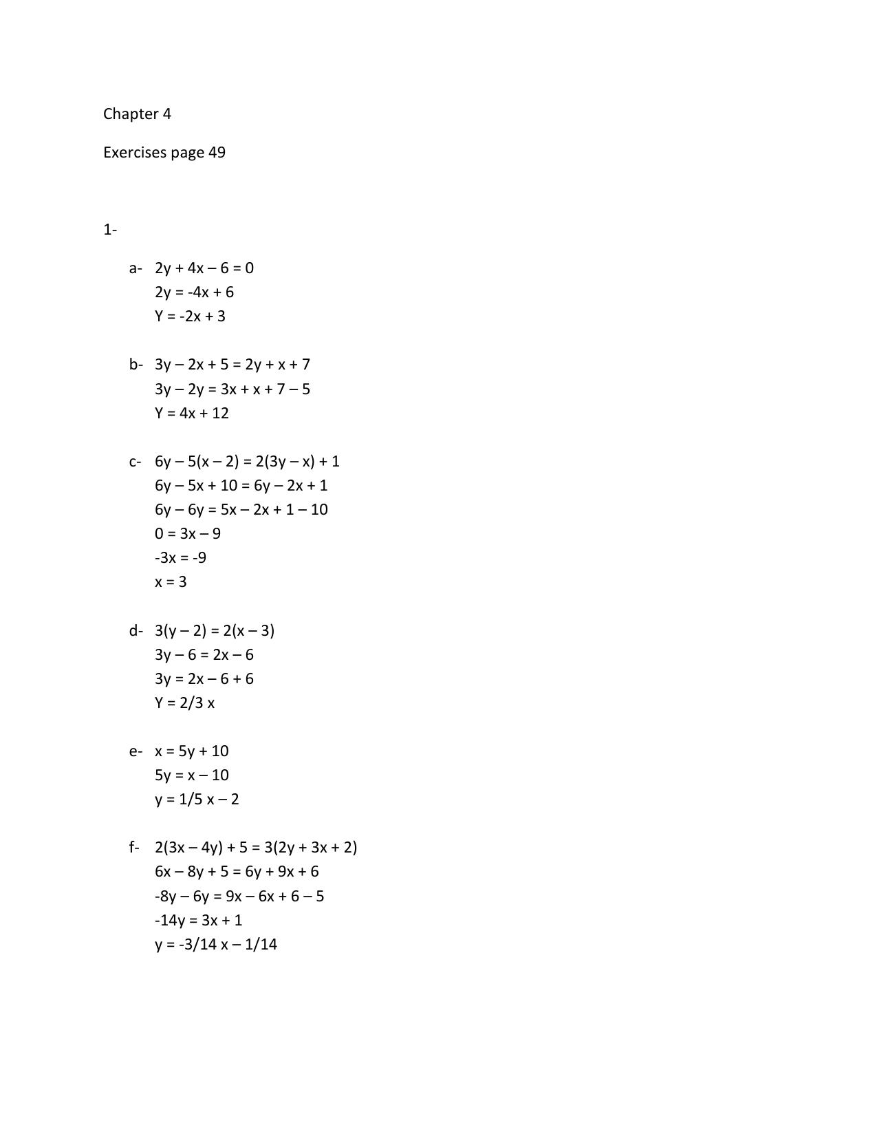 Y 4x X 2