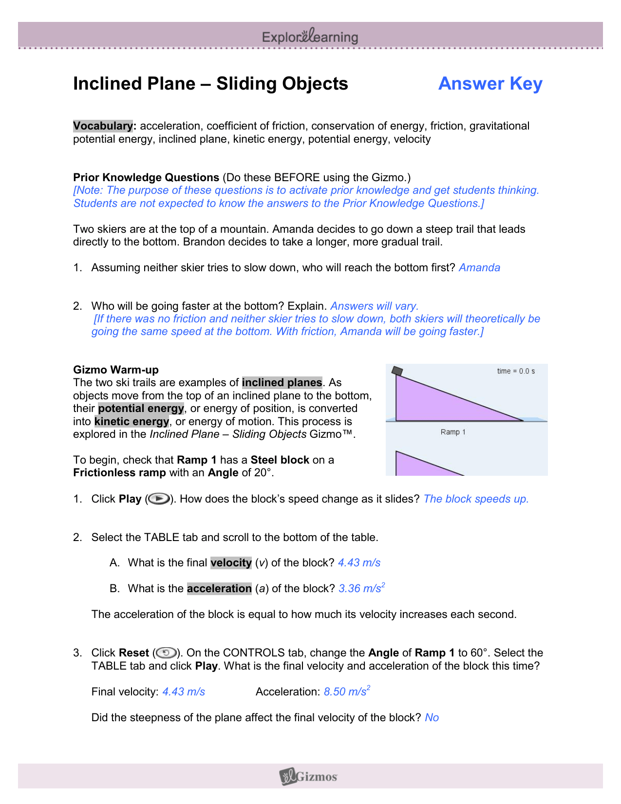 15 Best New Simple Machines Inclined Plane Worksheet