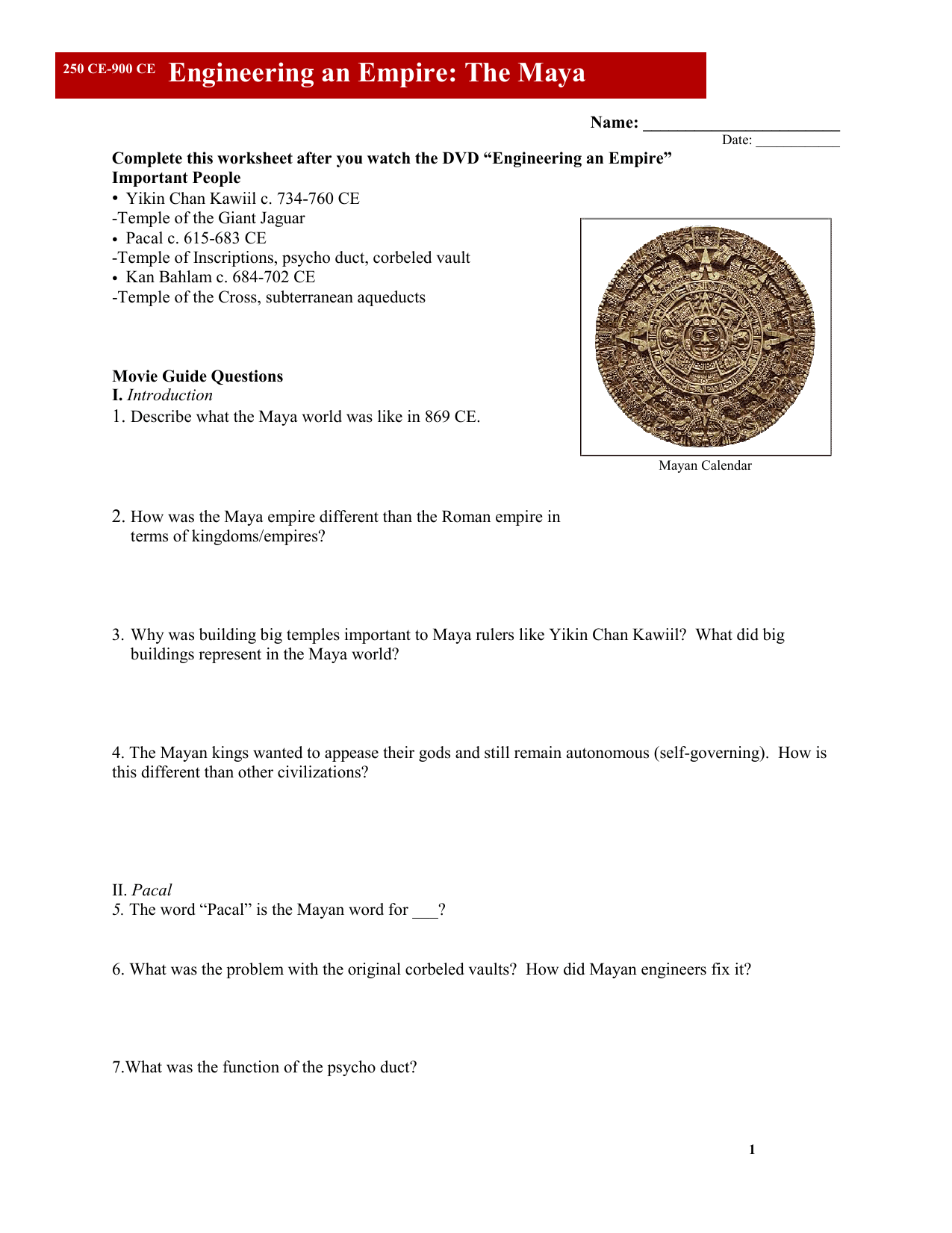 Greece Engineering An Empire Worksheet Answers
