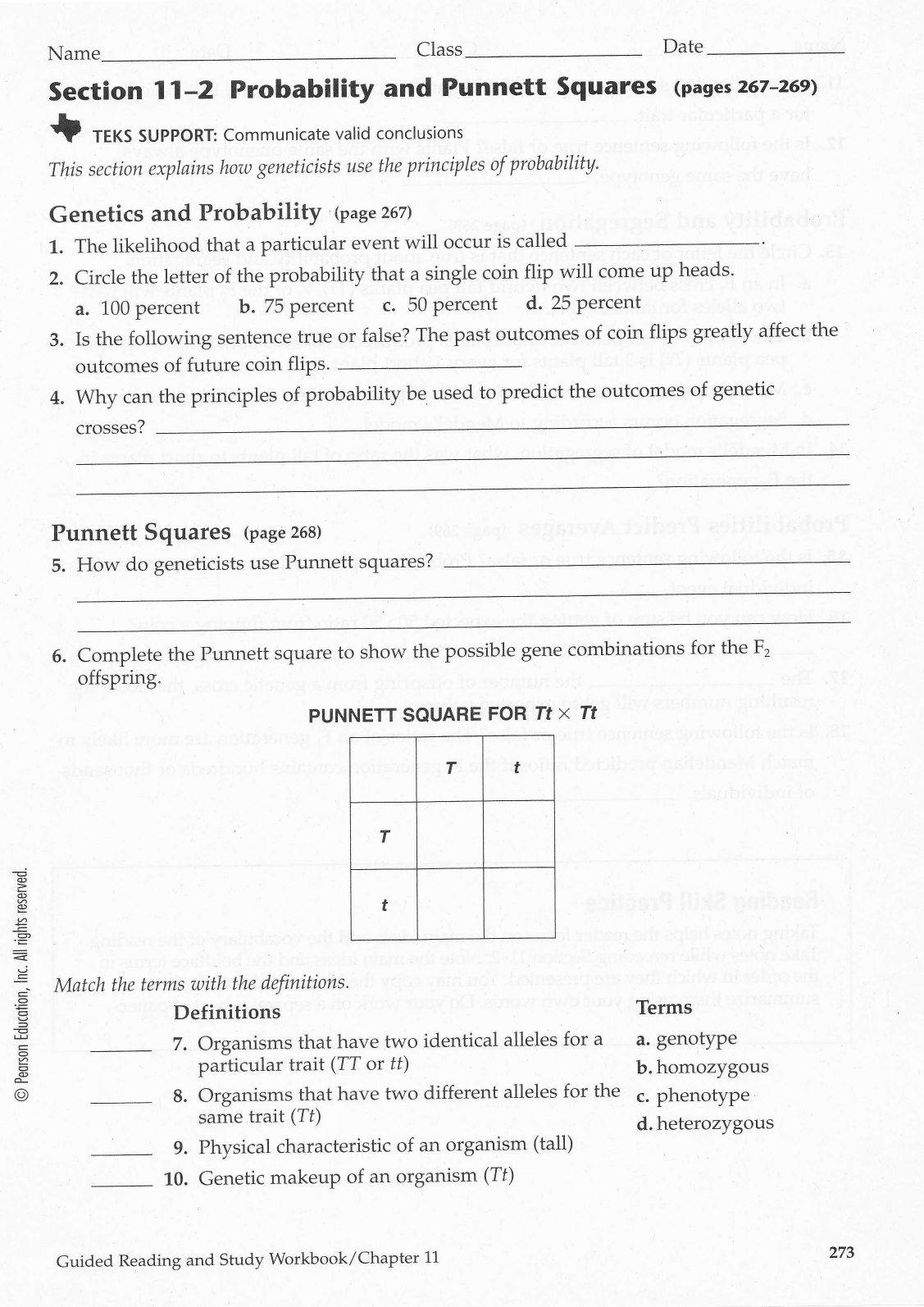 Bestseller Answer Key Chapter 11 Introduction To Genetics
