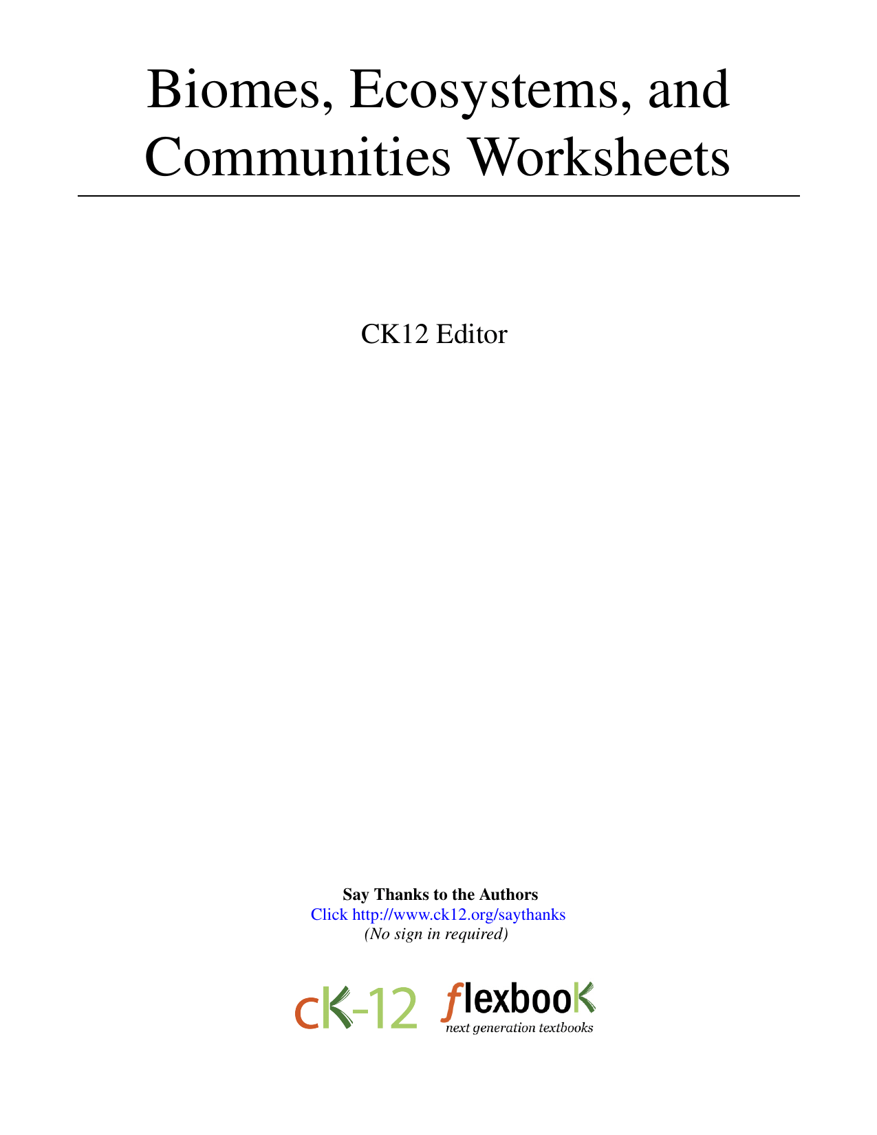 Chapter 3 Communities Biomes And Ecosystems Worksheet