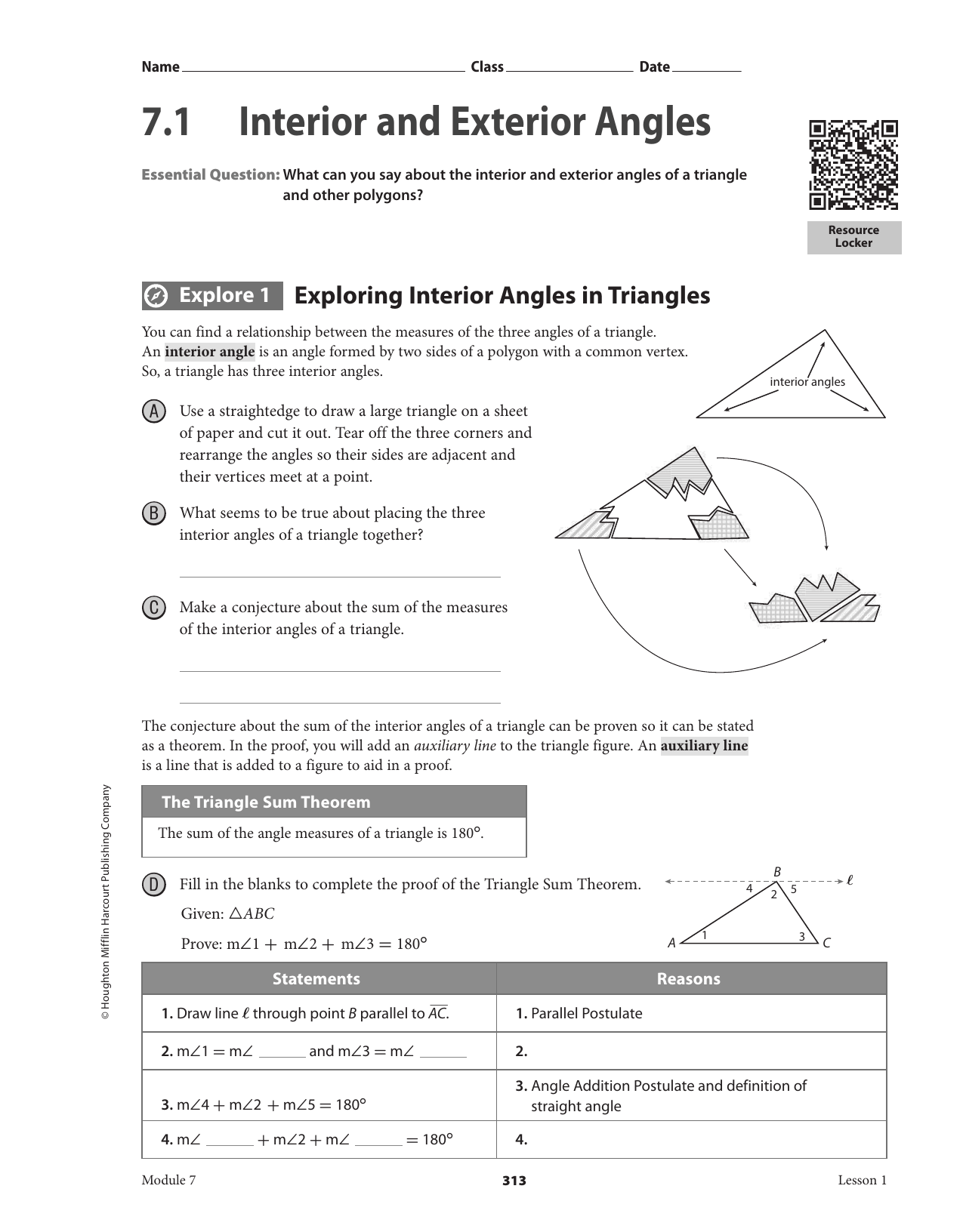 Interior Exterior Angles Worksheet Trendy Interior And Exterior Angles Decor Classifying