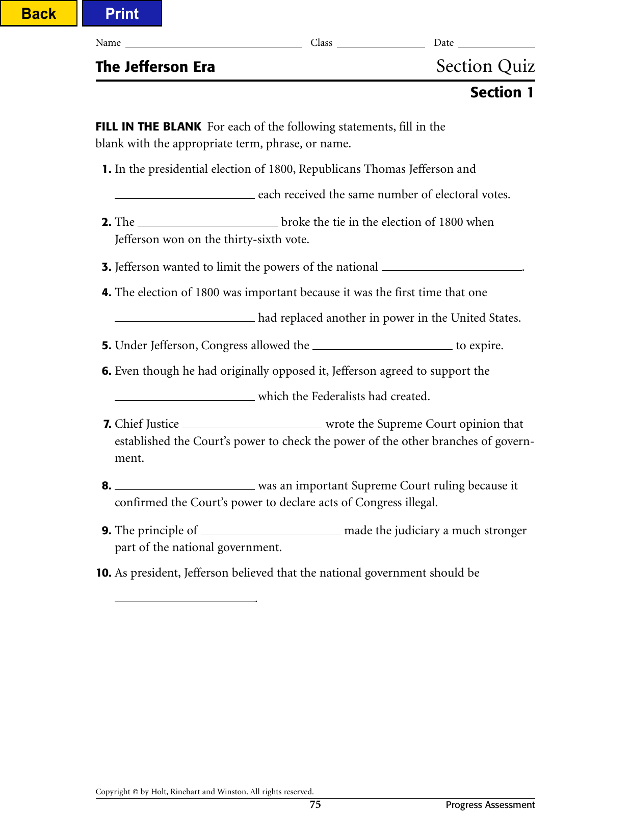Chapter 7 Section 2 Elections Worksheet Answers