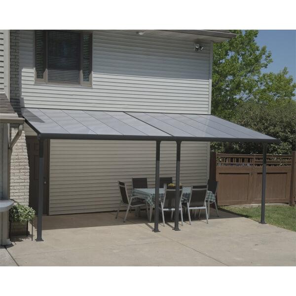 palram feria 3 x 6m grey patio awnings