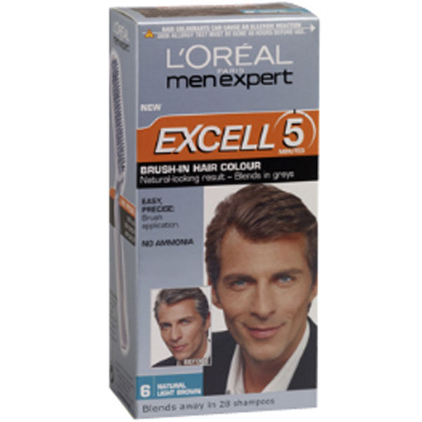 LOral Men Expert Excell 5 Brush In Hair Colour Natural