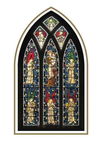 Classic FM Christmas Cards Church Window IWOOT