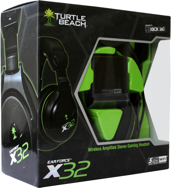 Turtle Beach X32 Xbox 360 Wireless Headset Games