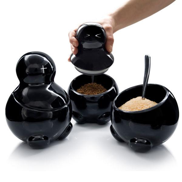 Tea Coffee Storage Jars Uk Large Tea Coffee Sugar Ceramic Canisters Rope Labels Yellow Storage Jars With Shelf Buy Yay Retro Handmade Evil Tea Coffee And Sugar Storage Jars Iwoot