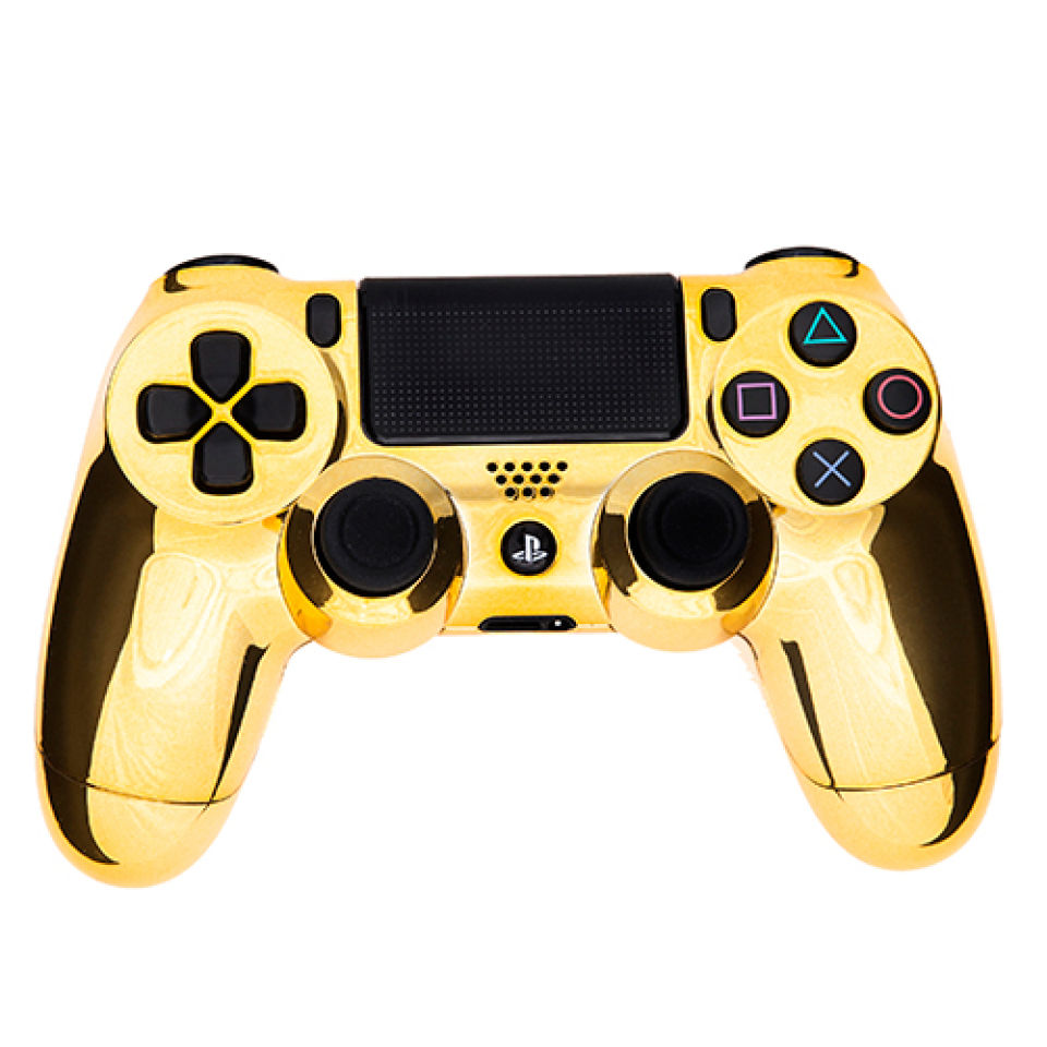 PlayStation DualShock 4 C3 PController Chrome Gold Games Accessories Zavvi