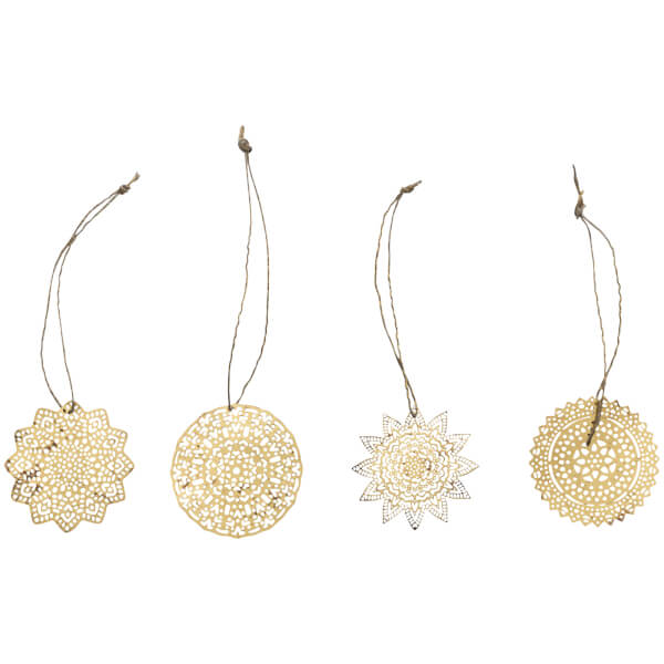 Nkuku Sankari Brass Decorations - Brass (Set of 4)