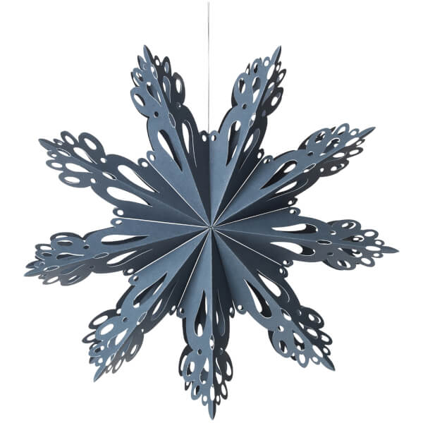 Broste Copenhagen Paper Snowflake Decoration - Medium - Orion Blue