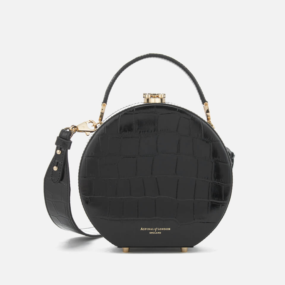 Aspinal Of London Womens Hat Box Mini Bag Black