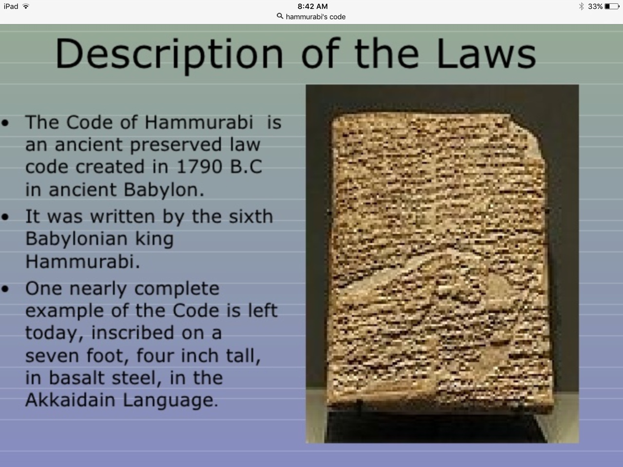 Copy Of Hammurabi Was A Ruler Of Babylonians This Here