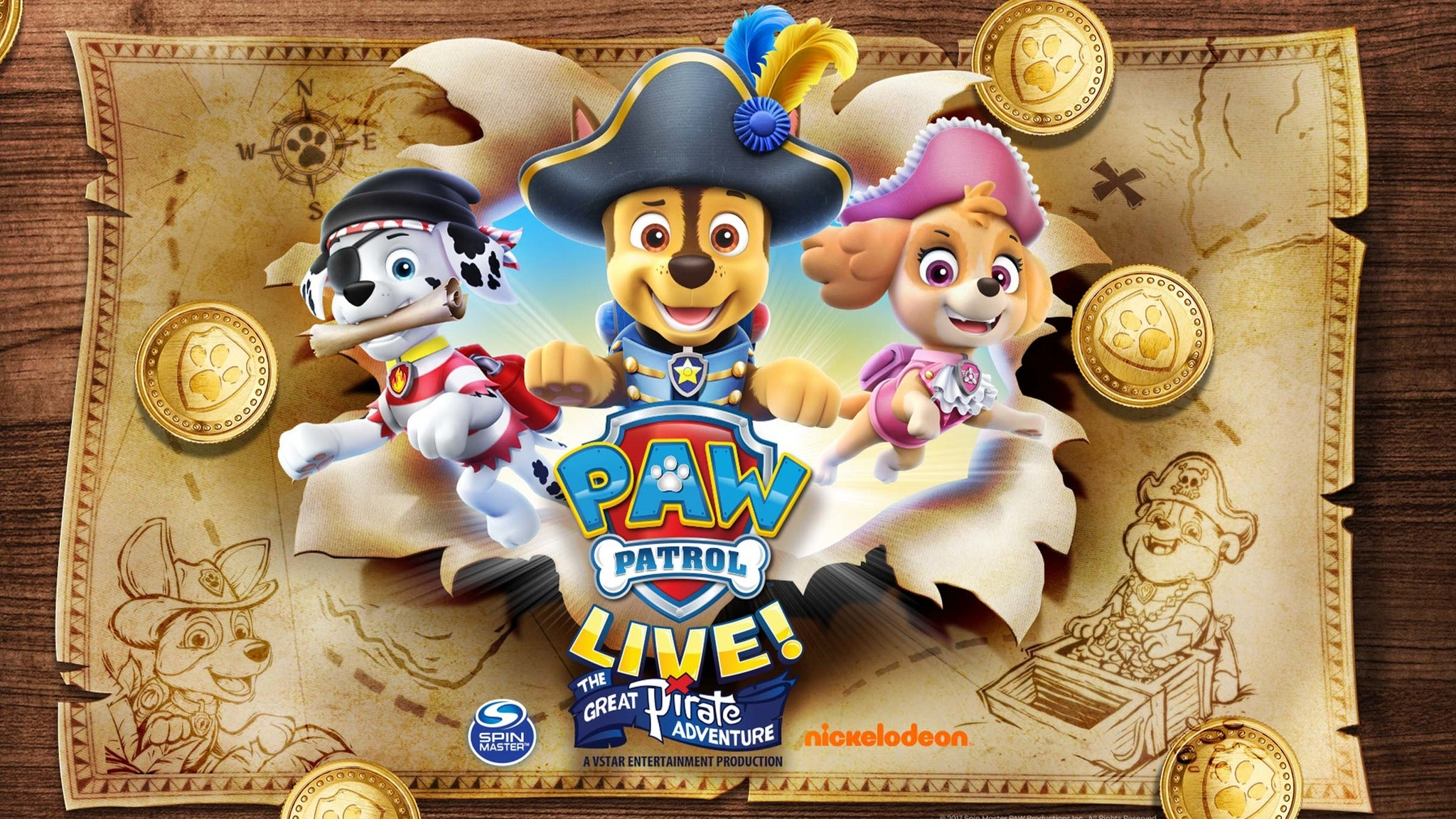 PAW Patrol Live! The Great Pirate Adventure presale code