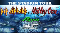Def Leppard/Motley Crue/Poison/Joan Jett and the Blackhearts presale password for early tickets in a city near