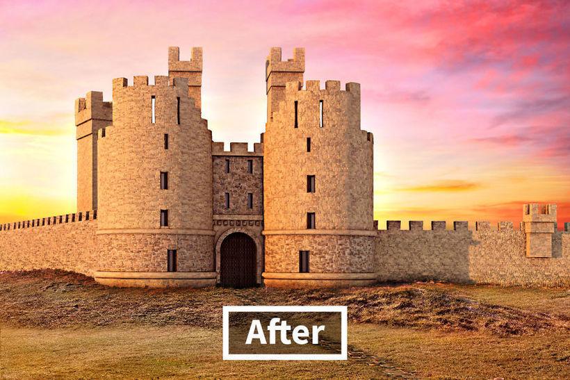 6 великолепных замков Великобритании до и после digital-реконструкции
