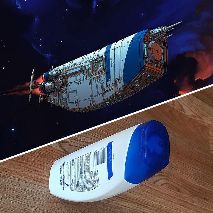 Художник превращает повседневные предметы в космические приспособления