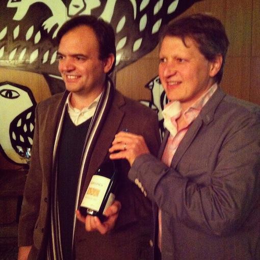 Zanini e Andrea Dal Cin, enólogo da Masi.