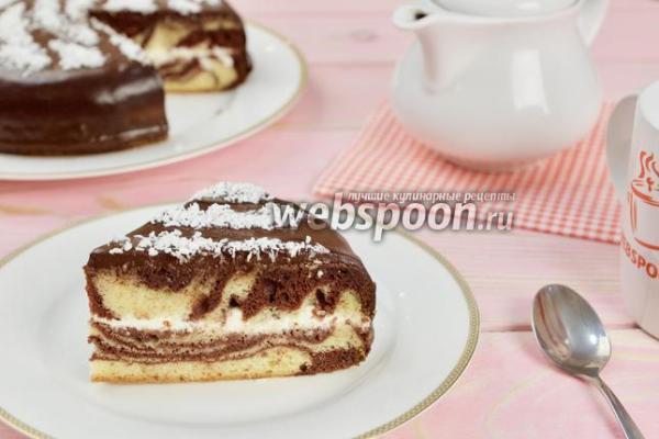 Торт Зебра - классический пошаговый рецепт с фото на ...