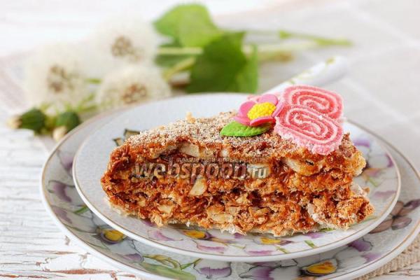 Вафельный торт со сгущёнкой рецепт с фото на Webspoon.ru
