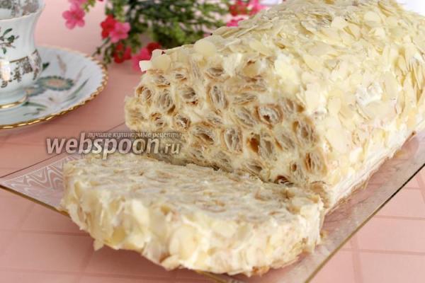 Торт «Полено» из слоёного теста со сгущёнкой рецепт с фото ...