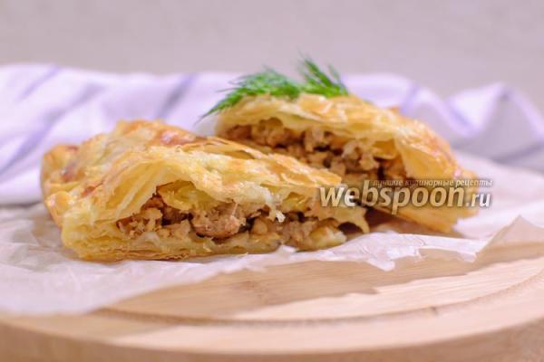 Пирог с мясом и яблоками рецепт с фото как приготовить на