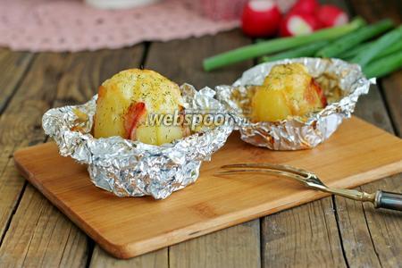 Картофель в мундире запечённый в фольге рецепт с фото, как ...