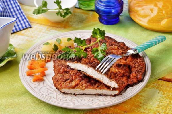 Шницель куриный рецепт с фото, как приготовить на Webspoon.ru