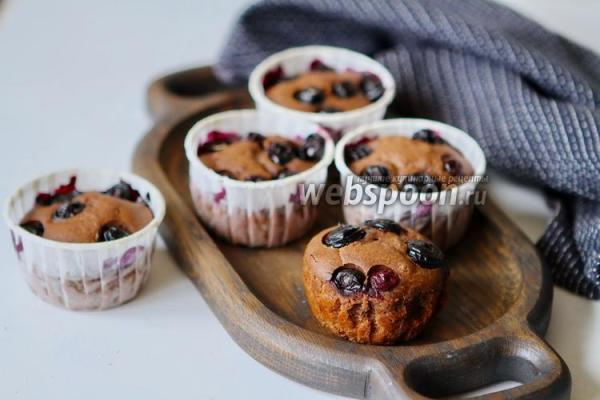 Шоколадные кексы с голубикой рецепт с фото, как ...