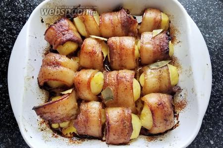 Картофель в маринованном сале в духовке рецепт с фото, как ...