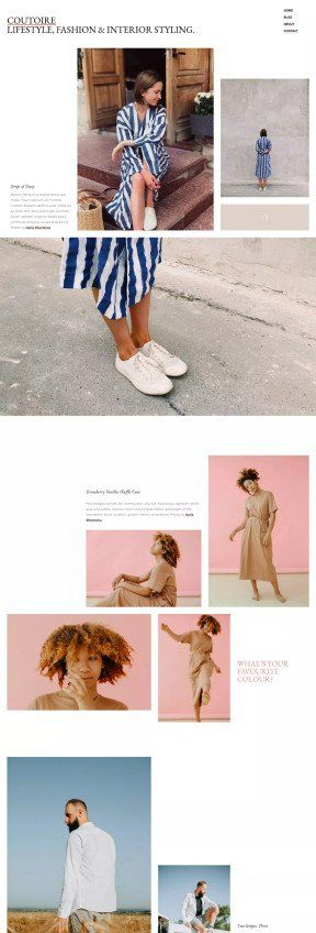 Couture fashion theme layout