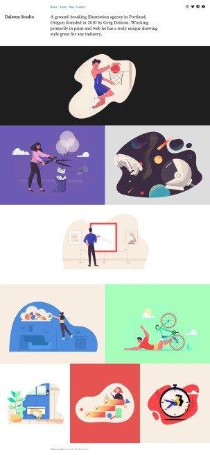 Dalston personal portfolio theme layout