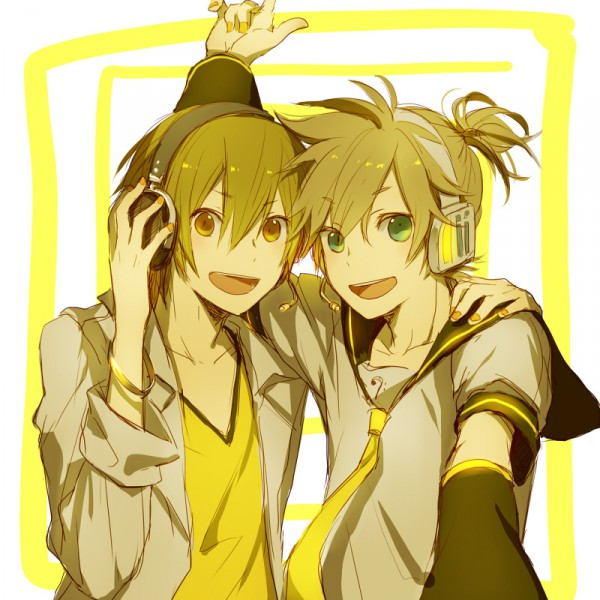 Tags: Anime, Fanart, Vocaloid, Kagamine Len, Pixiv