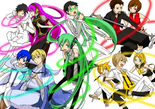 Tags: Anime, Fanart, Hatsune Miku, Vocaloid, Kagamine Rin