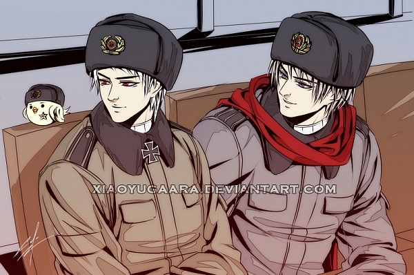 Hetalia Russia And Prussia