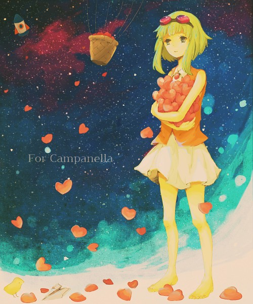 Tags: Anime, Pixiv Id 659489, Vocaloid, GUMI, Paper Airplane