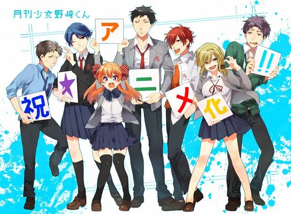 Tags: Anime, Takumi (Scya), Gekkan Shoujo Nozaki-kun, Sakura Chiyo, Kashima Yuu, Nozaki Umetarou, Wakamatsu Hirotaka