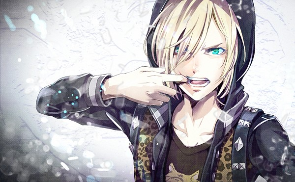 Tags: Anime, Arata (Pixiv440972), Yuri!!! On Ice, Yuri Plisetsky, Animal Print, Side Bangs, Open Jacket