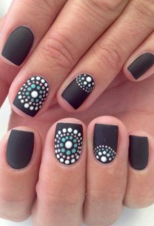 Can Be Achieved Using A Bobby Pin And Toothpick Easy Nail Art